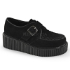 CREEPER-118 Black Vegan Suede